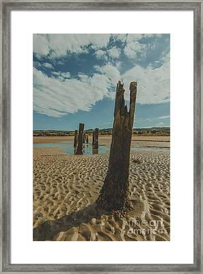 Cunnigar Groynes 3 Framed Print