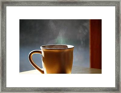 Cup A Joe Framed Print by Peter  McIntosh