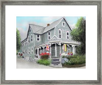 Framed Print featuring the drawing Cup A Joes Coffee Shop by Albert Puskaric