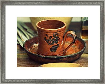 Cup And Saucer. Framed Print