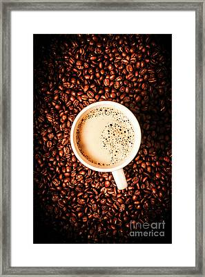 Cup And The Coffee Store Framed Print