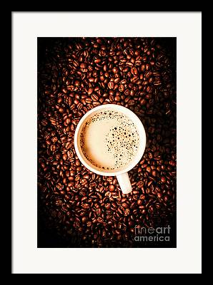 Coffee Drinking Framed Prints