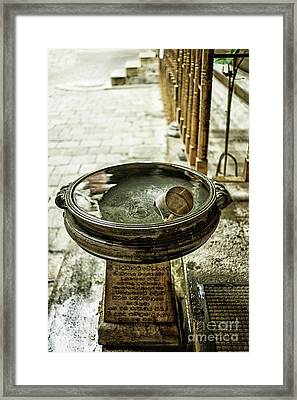Cup In Water Reservoir Framed Print by Patricia Hofmeester