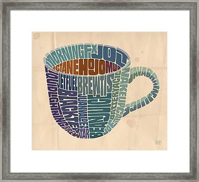 Cup O' Joe Framed Print by Mitch Frey