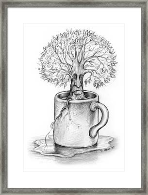 Cup-o-tree Framed Print