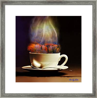 Cup Of Autumn Framed Print