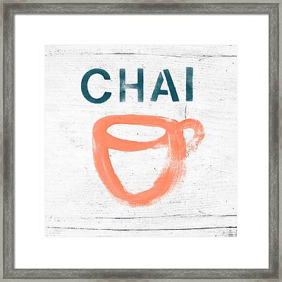 Cup Of Chai- Art By Linda Woods Framed Print