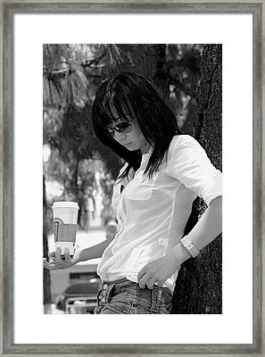Cup Of Coffee And Cigarette Framed Print