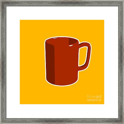 Cup Of Coffee Graphic Image Framed Print by Pixel Chimp