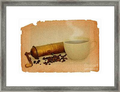 Cup Of Coffee Framed Print by Michal Boubin