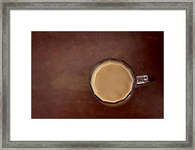 Cup Of Coffee Minimalist Framed Print