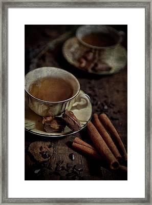 Cup Of Coffee Framed Print by Yannick Steyaert