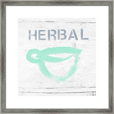 Cup Of Herbal Tea- Art By Linda Woods Framed Print by Linda Woods