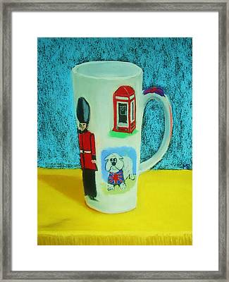 Cup Of London Java Framed Print