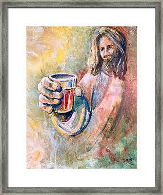 Cup Of Salvation Framed Print