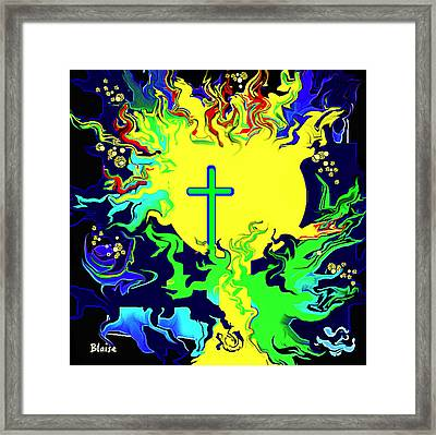Cup Of Salvation Framed Print by Yvonne Blasy