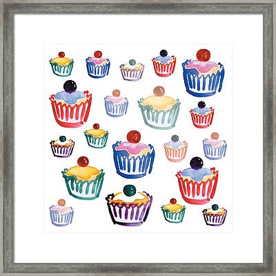 Cupcake Crazy Framed Print by Sarah Hough