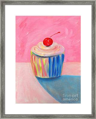 Cupcake Framed Print by Debbie Davidsohn