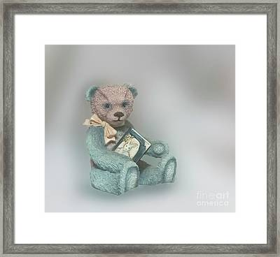 Framed Print featuring the photograph Cupcake Figurine by Linda Phelps