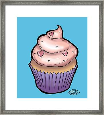 Cupcake Framed Print by Kylie Johnston
