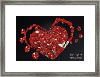 Cupcake Love Framed Print by Afrodita Ellerman