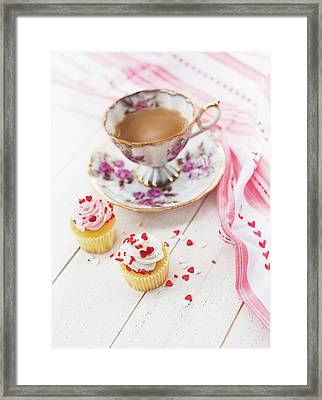 Framed Print featuring the photograph Cupcakes And Coffee by Rebecca Cozart