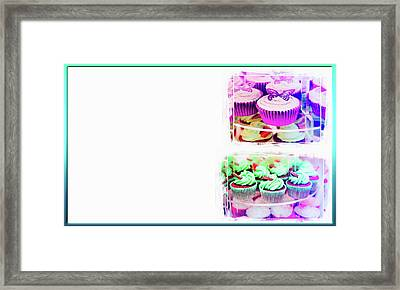 Cupcakes Business Card Framed Print