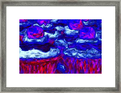 Cupcakes V4 - Painterly Framed Print by Wingsdomain Art and Photography