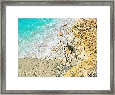 The Sea Below Framed Print