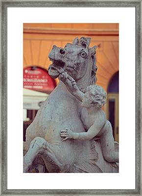 Cupid Riding The Sea-horse  Framed Print by JAMART Photography