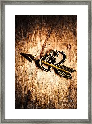 Cupid Arrow And Hearts Framed Print by Jorgo Photography - Wall Art Gallery