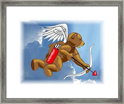 Cupid Bear Framed Print by Scarlett Royal