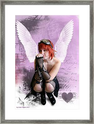 Cupid Framed Print by Crispin  Delgado