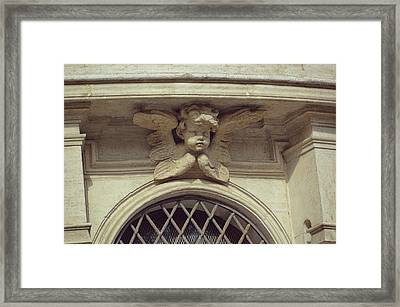 Cupid Protecting Saint Agnes Framed Print by JAMART Photography