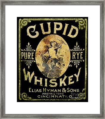 Cupid Whiskey Framed Print