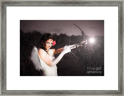 Cupid With Bow And Rose Arrow Framed Print by Jorgo Photography - Wall Art Gallery