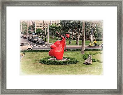 Framed Print featuring the photograph Cupid's Heart  by Mary Machare