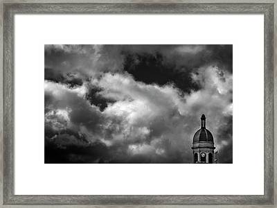 Cupola And Sky In Black And White Framed Print