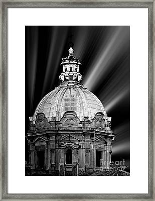 Cupola In Rome Framed Print by Stefano Senise