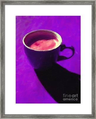 Cuppa Joe - Purple Framed Print by Wingsdomain Art and Photography