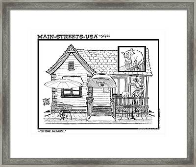 Cuppers Coffee House Framed Print