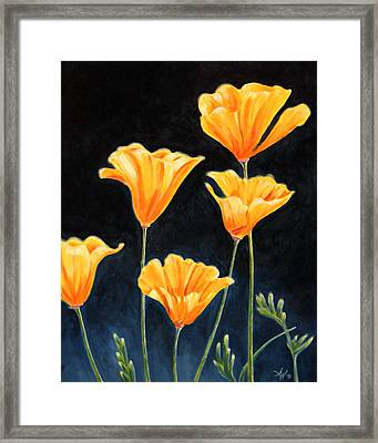 Cups Of Gold Framed Print