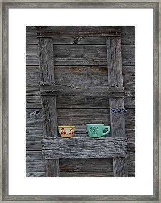 Cups On A Ladder Framed Print by Twenty Two North Photography