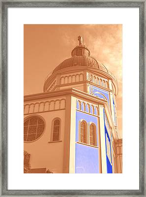 Cupula Iglesia Maria Auxiliadora - San Salvador Iv Framed Print by Totto Ponce