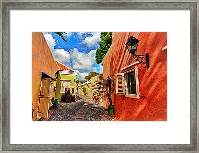 Curacao Colours Framed Print