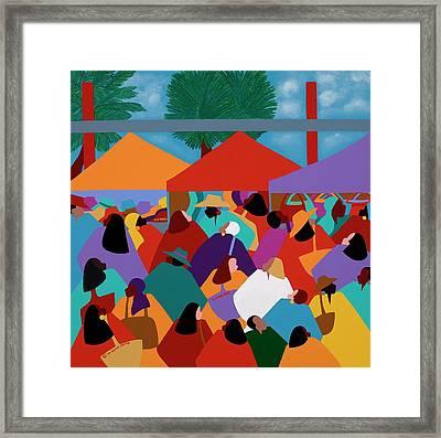 Curacao Market Framed Print