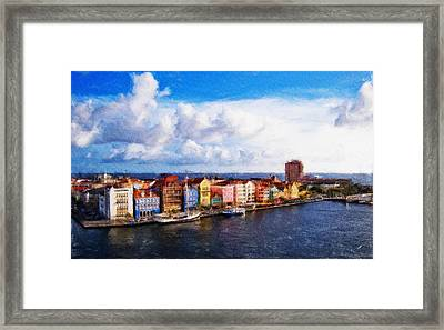 Curacao Oil Framed Print by Dean Wittle