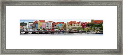 Curacao Willemstad Panorama Framed Print by Eva Kaufman