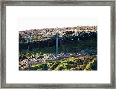 Curbar Edge Which Way To Go Framed Print