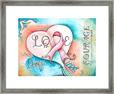 Cure Breast Cancer Framed Print